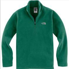 The North Face Boy'S Green 1/4 Zip Fleece