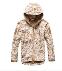2016 new Men Waterproof Windproof Coat Hunt Camouflage Army ClothingShark Skin Soft Shell Outdoors Military Tactical Jacket