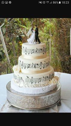 Music Wedding Cakes, Lemon Wedding Cakes, Piano Wedding, Bling Wedding Cakes, Music Cakes, Our Wedding, Dream Wedding, Bolo Musical, Sheet Music Ornaments