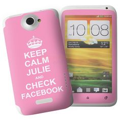 Personalised Pink Keep Calm HTC One X Phone Skin  from Personalised Gifts Shop - ONLY £7.95
