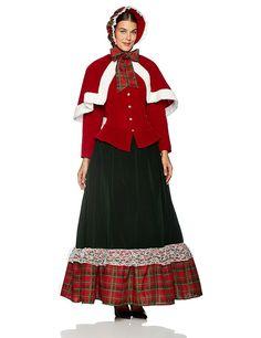 Amazon.com: InCharacter Costumes Women's Yuletide Lady Holiday Costume Multi, X-Large: Clothing