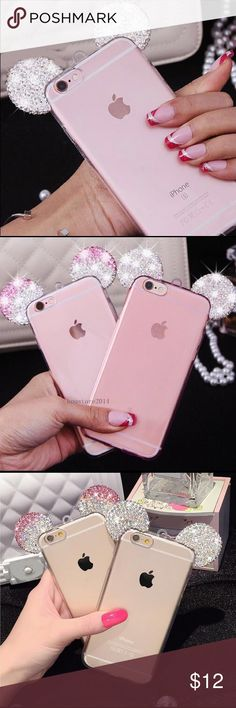 Luxury Diamond Glitter Mickey Mouse Case Luxury Diamond glitter bling Mickey Mouse ears TPU rubber case for Iphone 6/6S. Slim fit. Gorgeous! ✨✨ No brand Accessories Phone Cases