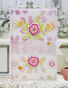 Enjoy Card by Melissa Phillips for Papertrey Ink (February 2015)