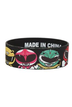 GEEK  Accessories | New Arrivals - MIGHTY MORPHIN POWER RANGERS RUBBER BRACELET