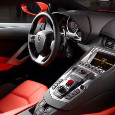 Orange Lamborghini Interior