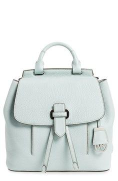 1b1ec943f559 MICHAEL Michael Kors 'Medium Romey' Leather Backpack Preppy Backpack,  Backpack Bags, Drawstring