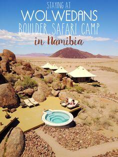 Staying at Wolwedans Boulder Safari Camp in Namibia