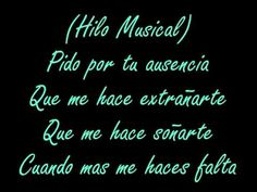 Me muero por besarte - La Quinta Estacion (Letra) - YouTube