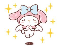 LINE Official Stickers - My Melody: Easygoing Cuteness Example with GIF Animation