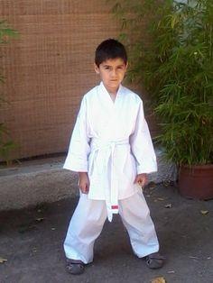 Mi pequeño guerrero en sus comienzos.
