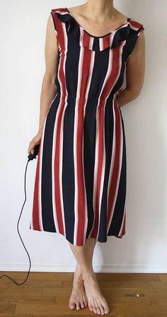 Kleid Chari von schnittchen patterns aus gestreifter Viskose