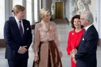 Guillermo y Maxima de Holanda y Carlos XVI Gustavo y Silvia de Suecia