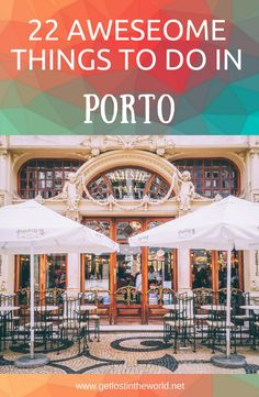 22 things to visit in Porto. Travel guide to Porto, Portugal. What to visit in Porto. Guide to Porto. 22 things to visit in Porto. Travel guide to Porto, Portugal. What to visit in Porto. Guide to Porto. Portugal Vacation, Portugal Travel Guide, Europe Travel Guide, Europe Destinations, Spain Travel, Portugal Trip, Faro Portugal, Italy Vacation, Ireland Travel
