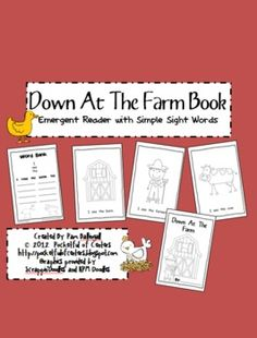 Down at the Farm Book {Emergent Reader} This is a great book to add to your farm theme! The sight words included are: I, see, the.  The animal words are also included. 1.50