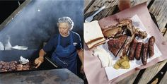 At Snow's, the pit master, Tootsie Tomanetz, prepares her meat hours before the place opens. Photographs by Brian Finke.