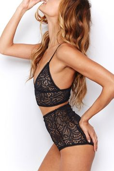 For Love & Lemons Honey Buns High Brief & Bra