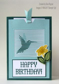 You Move Me fluttering birthday card using supplies from Stampin' Up!