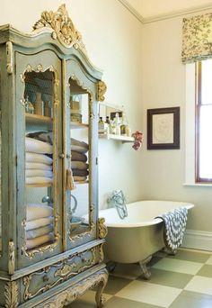 badezimmer einrichtungsideen shabby shic deko