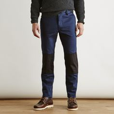 144ec0b338bffa Askov Finlayson Explorer Pant in Two-Tone Navy and Black