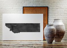 USA MAP PRINTABLE Missouri watercolor Montanta print by TypoWorld