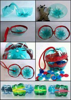 Recycling von Plastikflaschen!