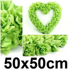 Svatební dekorace SRDCE 50x50 cm - světlá zelená