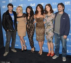 The group, along with director Harmony Korine, had flown into Toronto from Venice, where they   also walked the red carpet for the   premiere of the movie at the Venice   Film Festival on Wednesday. September 7, 2012.