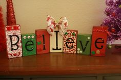 Use small wooden blocks in different sizes and let kids decorate and spell out Believe or Noel or some other Christmas word.