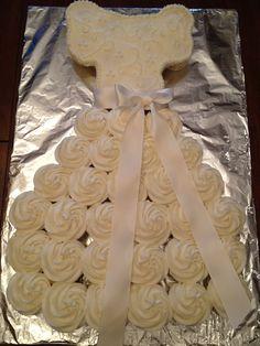 cupcake dress cake
