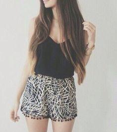 romper blouse shorts