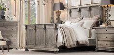 St. James Collection Antiqued Grey Oak | RH
