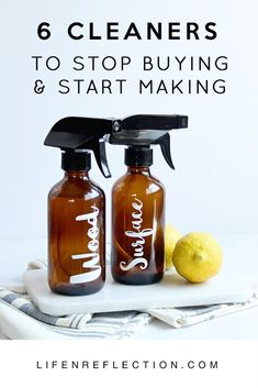 DIY cleaners are one of the easiest and effective tactics to save money. Get started with these 6 zero-waste cleaners to stop buying and start making. Deep Cleaning Tips, Cleaning Recipes, Green Cleaning, House Cleaning Tips, Natural Cleaning Products, Spring Cleaning, Cleaning Hacks, Cleaning Supplies, Diy Hacks