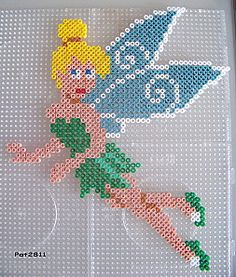 sandylandya.Tinker Bell hama perler by Les loisirs de Pat