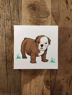Chiot, peinture, acrylique sur toile, animal de compagnie série, seul élément, crèche Simple peinture Scooby Doo, Dog Cat, Teddy Bear, Cats, Simple, Animals, Fictional Characters, Game Room, Pets