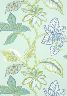 LUCALA, Aqua and Green, T5751, Collection Biscayne from Thibaut