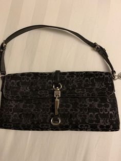 21a6691e831 Authentic Small black coach shoulder clutch.  fashion  clothing  shoes   accessories