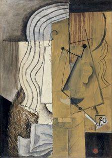 Cabeza de hombre, Pablo Picasso. 1913. Museo Thyssen, Madrid.