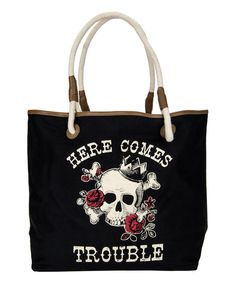 Look at this 'Here Comes Trouble' Tote on #zulily today!