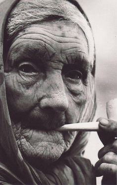 Beautiful old Irish woman of the Blasket islands.