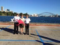 Photo-taking with other Singapore delegates on the International Sea Cadet Exchange Program
