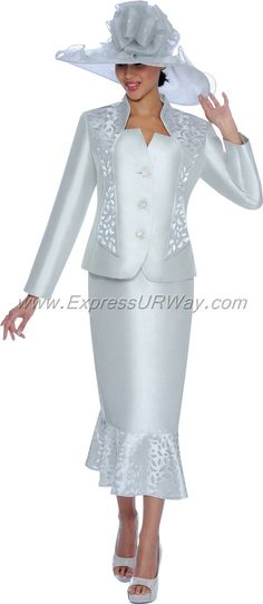 GMI G5012 Silver - Womens Church Suits