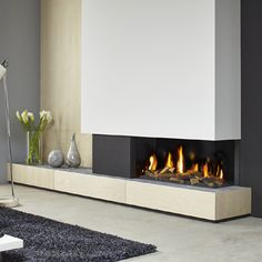 How do we get a stucco wall this clean cut lines? hopefully its not from photoshop Fireplace Tv Wall, Modern Fireplace, Fireplace Design, Living Tv, Living Room Modern, Home And Living, Living Room Tv Unit Designs, Wall Fires, Snug Room