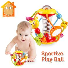 Baby Rattle Activity Ball Rattles Educational Toys For Babies Grasping Ball Puzzle Playgro Baby Toys Months climb Learning Toddler Toys, Baby Toys, Kids Toys, Baby Finger, Baby Rattle, Baby Birthday, Educational Toys, Cool Toys, Kids Learning