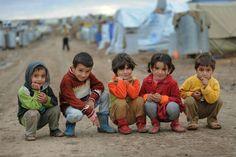 Syrian refugee children in Domiz camp, northern Iraq. Photo: Peter Biro/IRC.