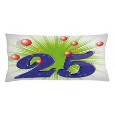 East Urban Home Ambesonne Birthday Throw Pillow Cushion Cover, Funky Vibrant 25 With Stars Candle Balloons Art Print, Decorative Rectangle Accent Throw Pillow Sets, Lumbar Pillow, Star Candle, 25th Birthday, Velvet Pillows, Birthday Balloons, Outdoor Throw Pillows, Indoor Outdoor, Cover Size