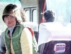 Lady Diana on a boarding school trip