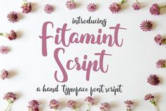 Fitamint - Script Fonts by junART on @creativemarket