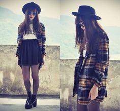 Tess Lively - Fivepoundtee No Regret Tee, Choies Coat, Oasap Leather Platform - No regret