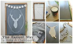 Easiest Way To Make A Chalkboard-City Farmhouse