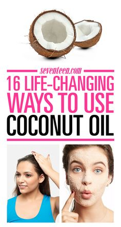 The biggest beauty advantage of coconut is not just to make your body spray and shampoo smell good. The same coconut oil used for cooking has tons of amazing beauty benefits. Coconut Oil Beauty, Coconut Oil For Teeth, Coconut Oil For Dogs, Natural Coconut Oil, Coconut Oil Pulling, Coconut Oil Hair Mask, Cooking With Coconut Oil, Benefits Of Coconut Oil, Organic Coconut Oil
